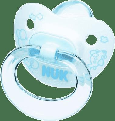 NUK Dudlík Classic modrý, silikon, vel.2 (6-18m.)