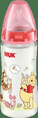 NUK FC+ láhev Disney (silikon) 300 ml-červená