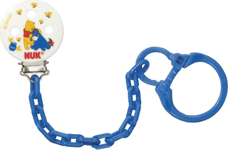NUK Retiazka na cumlík Disney Medvedík Pú – modrý