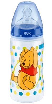 NUK First Choice fľaša Disney PP, 300 ml, silikón (0-6 m), M – modrá
