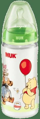 NUK First Choice fľaša Disney PP, 300 ml, silikón (0 - 6 m), M – zelená