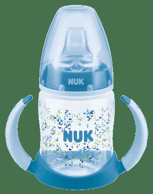 NUK First Choice Fľaša na učenie PP 150 ml, silikónové pítko (6-18 m) – modrá