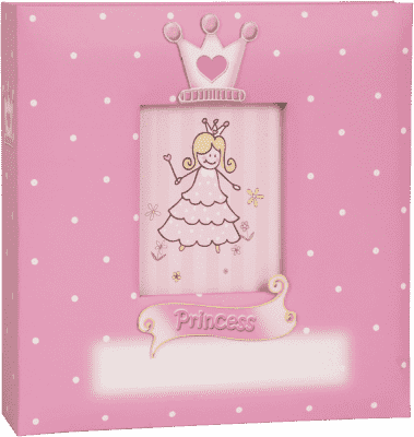 FOTOALBUM Prince & Princess 10x15cm (200 fotografií) - růžový