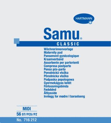 Samu Midi Classic pôrodnícke vložky (56 ks)