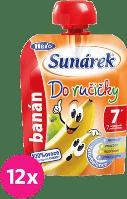 12x SUNÁREK Do ručičky banán (90 g) - ovocný príkrm