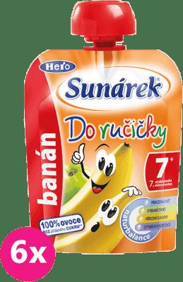 6x SUNÁREK Do ručičky banán (90 g) - ovocný príkrm