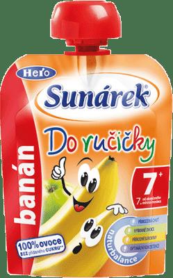 SUNÁREK Do ručičky banán (90 g) - ovocný príkrm