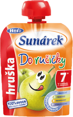 SUNÁREK Do ručičky hruška (90 g) - ovocný príkrm