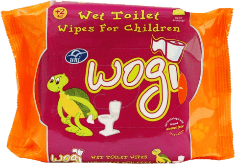 WOGI Vlhčený toaletný papier pre deti náhradná náplň (60 ks)