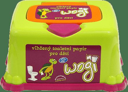 WOGI - nawilżany papier toaletowy w zabawnym pudełku - 60 szt.
