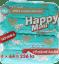4x HAPPY MIMI Premium dziecięce chusteczki nawilżane 64 szt.