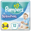 2x PAMPERS Pants Splashers Carry Pack vel. 3-4 (6-11 kg), 12 ks - jednorázové pleny do vody