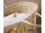 CHILDHOME Košík pro miminko Natural Raffia +matrace